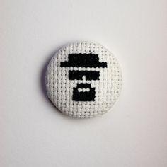 Heisenberg Breaking Bad Cross Stitch Badge
