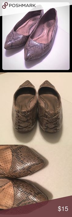 Snakeskin flats life stride size 7 Super cute snakeskin flats pointed toe. Size 7. Great condition. life stride Shoes Flats & Loafers