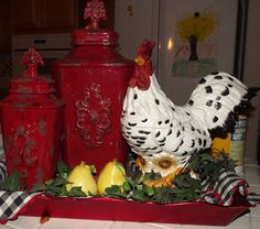 Lowe S Rooster Rug Kitchen