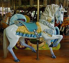 Horse on the historic Herschell-Spillman carousel, Golden Gate Park, by Mary Pat on Flickr