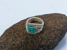 A personal favorite from my Etsy shop https://www.etsy.com/listing/461571826/silver-wire-wrapped-ring