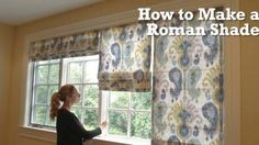 Watch How Easily She Makes This Beautiful Roman Shade And She Shows Us How It's Done! | DIY Joy Projects and Crafts Ideas