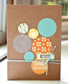 Valerie Mangan Summer Vacation card via Jillibean Soup Blog