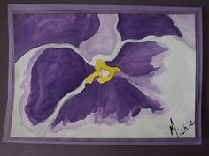 A Pretty Talent Blog: Cardmaking - Watercolours & Ink: Pansy Liquid Ink, Shades Of Violet, Dip Pen, White Ink, Watercolor And Ink, Watercolours, Pansies, Cardmaking, Moose Art