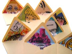 using books and magazines to line the inside of envelopes