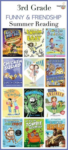 Grade Summer Reading List (Ages 8 – - - Recommendations for grade summer reading -- books that are funny, fantasy, friendship stories, adventure, and about animals. Books that will get your kids engaged and reading all summer long! Summer Books, Summer Reading Lists, Kids Reading, Reading Books, 3rd Grade Chapter Books, Third Grade Reading, 3rd Grade Book List, Second Grade, Book Club Books