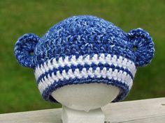 Sock Monkey Blues #crochet #baby #blues