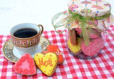 имбирный пряник в банке ко дню влюблённых)) Heart Cookie