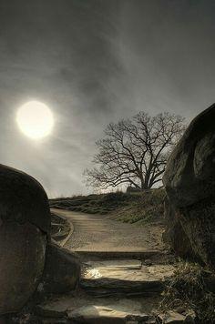 Moon over Devil's Den, Gettysburg, PA