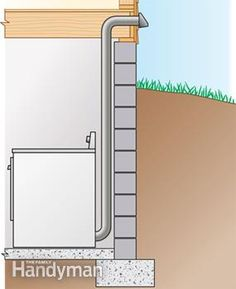 To speed up clothes drying and prevent lint build-up, install a smooth metal dryer vent. These step-by-step directions walk you through the tough parts. Rigid metal vents are… Laundry Room Remodel, Basement Laundry, Small Laundry Rooms, Laundry Room Design, Dryer Vent Installation, Basement Windows, Plumbing Problems, Small Woodworking Projects, Home Repairs