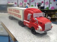 cake in the shape of a truck ( everything is edible)