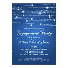 This DealsElegant Engagement Party Sparkling Lines Sapphire Custom Announcementsso please read the important details before your purchasing anyway here is the best buy