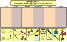 Here's a nice simple machines cut and paste activity.