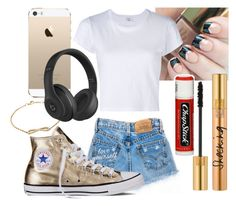 """Untitled #634"" by freedom2095 ❤ liked on Polyvore featuring Chapstick, Yves Saint Laurent, RE/DONE, Nephora, Converse and Beats by Dr. Dre"