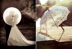 Great wedding photo idea & vintage parasol
