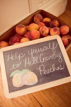 Great idea for a Summer Wedding in the Texas Hill Country #FredericksburgTX #Peaches