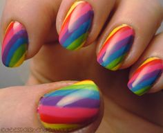 Dees Polish Endeavours: 31 Day Challenge: Day 9 Rainbow
