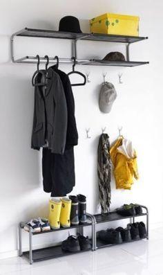 Ikea-Lustifik-Wall-Mounted-Hat-amp-Coat-Rack-Shoe-Tidy-Stand