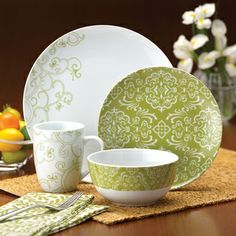 Rachael Ray 'Curly Q' 4-piece Place Setting   Overstock.com Shopping - Big Discounts on Rachael Ray Place Settings