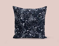 Window Seat Pillow / Velvet Throw Pillow / Pattern Throw