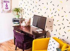 Estetik ve farklı bir görünüm için duvar kağıtlarına ihtiyacınız yok!