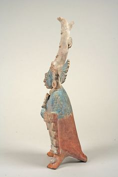 Costumed Figure Date: 7th–8th century Geography: Mexico, Mesoamerica Culture: Maya Medium: Ceramic, pigment
