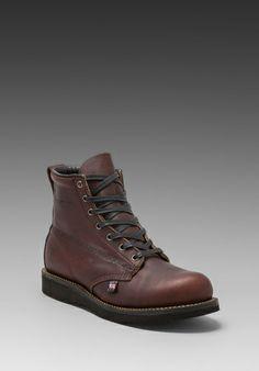 """BROKEN HOMME James 7"""" Boot in Oxblood - Boots"""