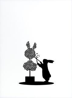 Brand new screen printed rabbits by Jo Ham, 'Topiary Rabbit' Available on Print Club London's gallery only £35 SHOP NOW!