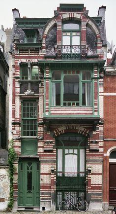 Art nouveau buildings near sadovaya street, st. Architecture Art Nouveau, Architecture Cool, Beautiful Buildings, Beautiful Homes, Old Buildings, Victorian Homes, Old Houses, Exterior Design, Art Deco