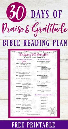 This Thanksgiving, rejoice in God's blessings with this simple Bible reading plan. With daily Scripture readings, you'll explore God's character and refocus your heart on Bible verses of gratitude and praise.  #thanksgivingbiblestudy #thanksgivingbibleverses #biblereadingplan