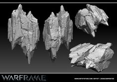 Rock Sculpt - Warframe, Jesse Carpenter on ArtStation at http://www.artstation.com/artwork/rock-sculpt-warframe