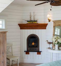 Love love love! Sweet little bedroom fireplace in Cape Cod home