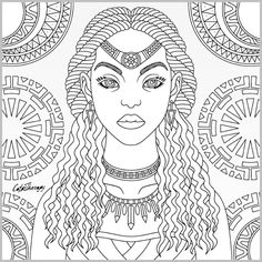 Nature Coloring Book Art Fresh Coloring Book for Adults Inspirational Color Book Pages New Tribal Queen Coloring Page Color therapy App Coloring Book App, Blank Coloring Pages, Coloring Pages For Girls, Free Printable Coloring Pages, Coloring Pages Inspirational, African American Art, Book Art, Portrait, Printables