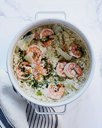 Baked Shrimp Risotto Recipe on Food & Wine