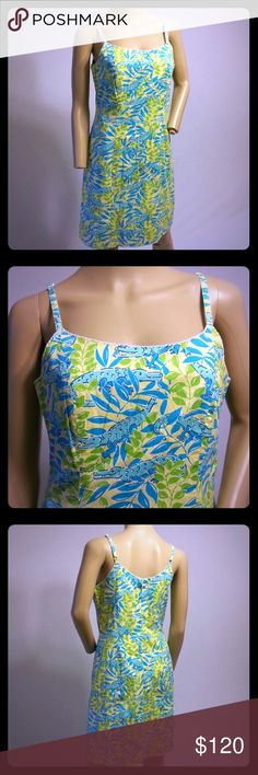 Lilly Pulitzer The Everglades Alligator Dress Lilly Pulitzer Dress  Size 4  Cotton with 3% Spandex  Adjustable straps  Great preowned condition. Light wear   If you have any questions please ask! Lilly Pulitzer Dresses