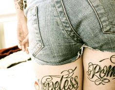 Hopeless Romantic Heart Tattoo Thigh tattoo hopeless romantic tattoos ...