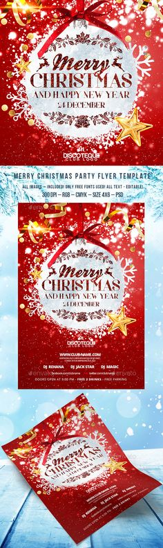 20+ Invitation Flyer Template PSD, Word For Christmas and New Year - Invitation Flyer Template