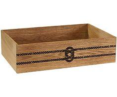 Ящик для хранения - массив дуба, 30х10х45 см