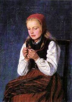 Young Seamstress The Folk Singer And Kantele Player Kreeta Haapasalo The Young Violinist Kilttipiika Young Widow With Child Medicine For The Ill Doll Things Return Cantor's Aina Italian Girl With Flowers Waiting By The Sea Sailor