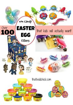 Check out this list of over 100 Non Candy Easter Egg Fillers that Kids will Actually Want at thatbaldchick.com