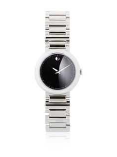 50% OFF Movado Women\'s 0606419 Concerto Stainless Steel Black Round Dial Watch