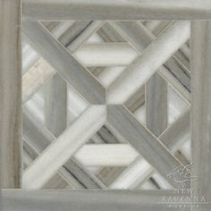 Marshall, a stone waterjet mosaic shown in Cashmere vein cut honed, is part of the Parquet Line by Sara Baldwin for New Ravenna Mosaics.  Copyright New Ravenna Mosaics 2012
