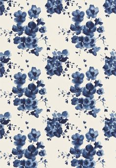 Mandarin Flowers (221324) - Sanderson Fabrics - Mandarin Flowers is inspired traditional Chinese ink-paintings and is printed on glazed linen union. Shown in the Indigo blue colourway. Please request sample for true colour match. The complementary design, Inari, is available as non-woven wallpaper.: