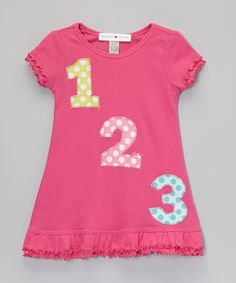 http://www.zulily.com/invite/vhanson979 Look at this #zulilyfind! Hot Pink '1-2-3' Ruffle A-Line Dress - Infant, Toddler & Girls #zulilyfinds