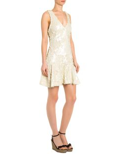 Vestido Paetê Sainha - Maria Filó - Off White - Shop2gether