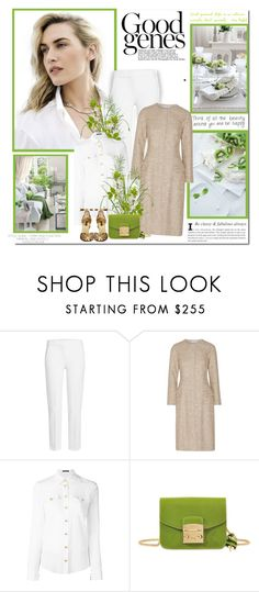 """""""The present time has one advantage over every other - it is our own!!"""" by lilly-2711 ❤ liked on Polyvore featuring MaxMara, Oscar de la Renta, Balmain, Furla and Dolce&Gabbana"""