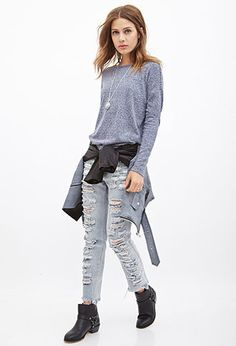 Classic Heathered Sweater   FOREVER21 - 2000060619