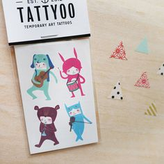 The Musicians Temporary Tattoos - Temporary tattoos are perfect as stocking stuffers! This set comes in a beautiful packaging and ideal for a gift.