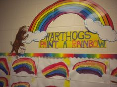 Henry Cole illustrator-From the book Warthogs Paint: Our Kindergarten Rainbows-great lesson on mixing colors Henry Cole, Kindergarten Art Activities, Rainbows, Art Lessons, Color Mixing, The Book, Illustrator, Homeschool, Appetizers
