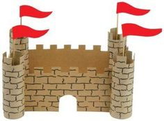 This Paper Castle is a fun paper craft project fit for a king or queen. Learn how to create your own Paper Castle with these instructions. Paper Crafts For Kids, Paper Crafting, Diy For Kids, Arts And Crafts, Diy Paper, Cardboard Castle, Cardboard Crafts, Castle Crafts, Castle Project